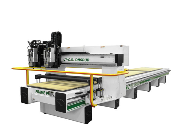 288G19DRH2 Roller Hold Down CNC Router Close View