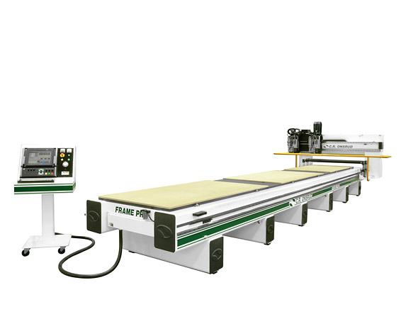 288G19DRH2 Roller Hold Down CNC Router Far View