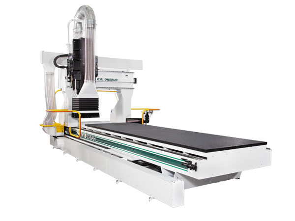 F216G25 5-Axis CNC Router Left View