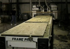 Furniture Frames on Roller Hold Down CNC Router