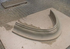 3-Axis CNC Router making curved molding