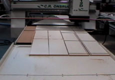CNC Router with Automated Material Offload System