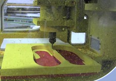 EVA Foot Orthotics on CNC Mill