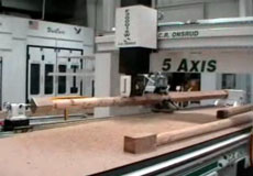 Lathe Axis on 5-Axis CNC Router